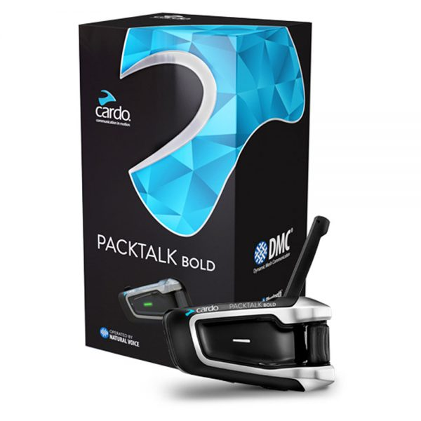 Cardo Packtalk Bold Motorcycle Communication System - Single